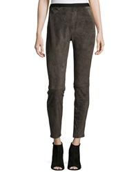 Neiman Marcus Stretch Suede Leggings