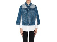 Givenchy Women's Contrast Yoke Denim Cape Navy
