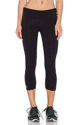 Solow Fold Over Crop Legging Black