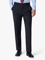 Jaeger Mini Texture Motion Regular Fit Suit Trousers Charcoal