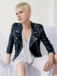 Free People Studded Vegan Moto Jacket By
