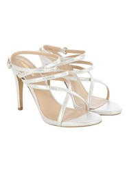 Jane Norman Silver Strappy Stiletto Heel