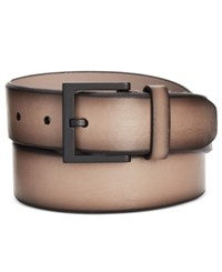 Kenneth Cole Reaction Men's Beveled Edge Belt Taupe