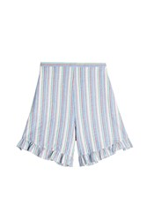 See By Chloe Striped Cotton Shorts Stripes