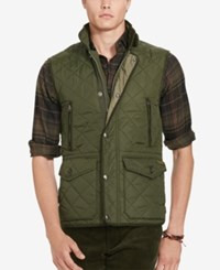 Polo Ralph Lauren Men's Diamond Quilted Vest Corduroy Green