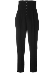 Fausto Puglisi High Waisted Trousers Black