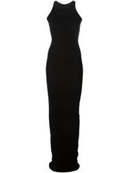 Rick Owens Drkshdw Long Ribbed Fitted Dress