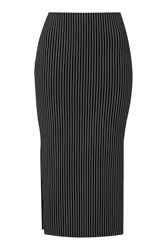 Topshop Pinstripe Tube Skirt Navy Blue