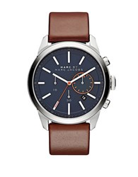 Marc By Marc Jacobs Mbm5094 Stainless Steel Brown Leather Strap Chronograph