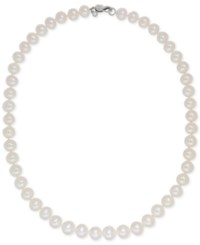 Honora Style Cultured Freshwater Pearl 8Mm Collar Necklace White