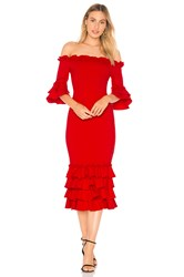 Donna Mizani X Revolve Pishi Midi Dress Red