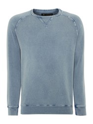 Label Lab Barney Vintage Wash Crew Neck Sweat Vintage Blue