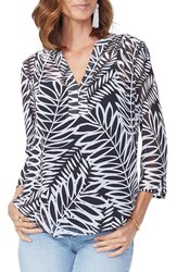 Nydj Chiffon Split Neck Blouse 29 Palms