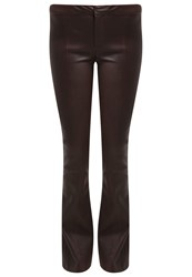 2Nd Day Rina Leather Trousers Java Dark Brown
