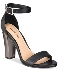 Call It Spring Capraia Lucite Sandals Women's Shoes Black