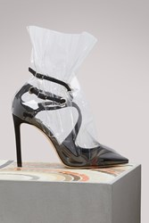 Jimmy Choo X Off White Claire 100 Sandals Black