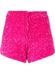 Manish Arora Sequinned Shorts Women Nylon Polyester 34 Pink Purple
