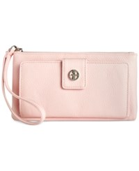 Giani Bernini Softy Grab And Go Leather Wallet And Wristlet Only At Macy's Blush