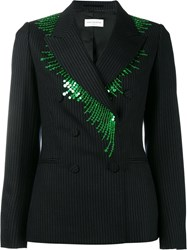 Dries Van Noten Bisman Double Breasted Blazer Blue