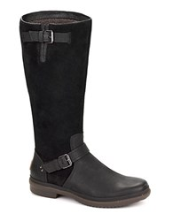 Thomsen Uggpure Mid Calf Leather Boots Black