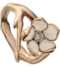 Shaun Leane Sterling Silver Rose Gold Vermeil And Diamond Ring