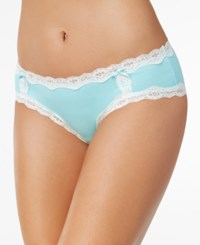 By Jennifer Moore Cotton Lace Trim Hipster Only At Macy's Creamy Aqua