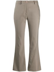 Pt01 Cropped Trousers Neutrals