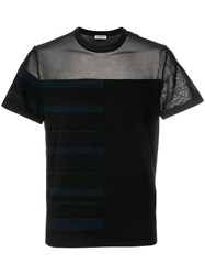 Dirk Bikkembergs Sheer Panelled T Shirt Black