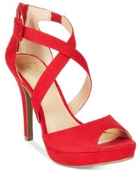 Material Girl Helenah Platform Dress Sandals Only At Macy's Women's Shoes Red