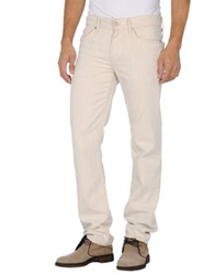 7 For All Mankind Denim Pants Ivory
