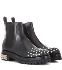 Alexander Mcqueen Studded Leather Chelsea Boots Black