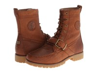 Polo Ralph Lauren Ranger Tan Pull Up Grain Leather Men's Lace Up Boots Brown