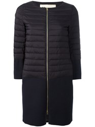 Herno Padded Trim Coat Blue
