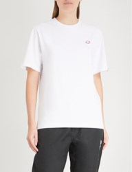 Aape By A Bathing Ape Embroidered Patch Detail Cotton Jersey T Shirt White