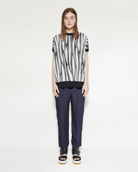 Marni Side Zip Trouser Deep Blue