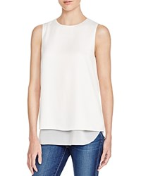 Cooper And Ella Avery Tiered Sleeveless Blouse White