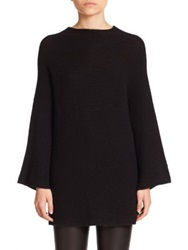 The Row Renata Ribbed Cashmere Tunic Black