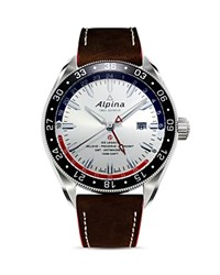 Alpina Alpiner 4 Gmt Automatic Watch 44Mm White Brown