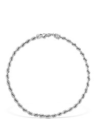 Emanuele Bicocchi French Rope Braided Necklace Silver