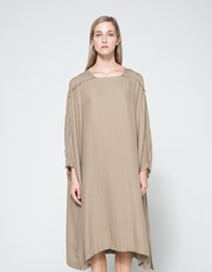 Black Crane Dome Dress Sand