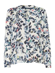 Dickins And Jones Bess Floral Print Blouse Ivory