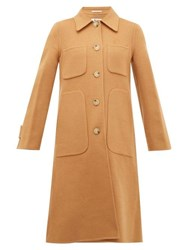 Acne Studios Orein Single Breasted Double Faced Wool Coat Brown