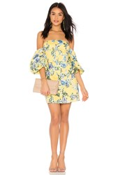 J.O.A. Off The Shoulder Dress Yellow