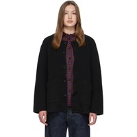 Chimala Black Quilted Cardigan