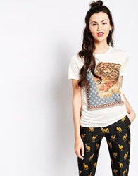 Emma Cook Circus Tiger T Shirt White