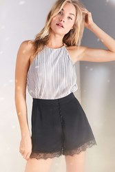 Kimchi And Blue Lace Button Up High Rise Short Black