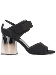 Marni Geometric Gradient Heel Sandals Black