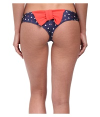 Lolli Set Sail Bow Bottom Dark Coral Sailboats Bow Women's Swimwear Blue