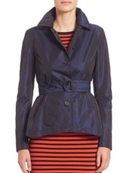 Akris Punto Iridescent Techno Trench Navy