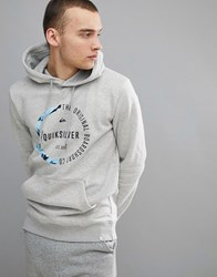 Quiksilver Revenge Hoodie In Grey Light Grey Heather